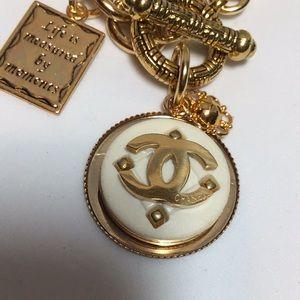 Jewelry - Designer gold coco Authentic button bracelet